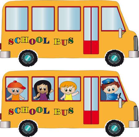 transport scolaire: autobus scolaire
