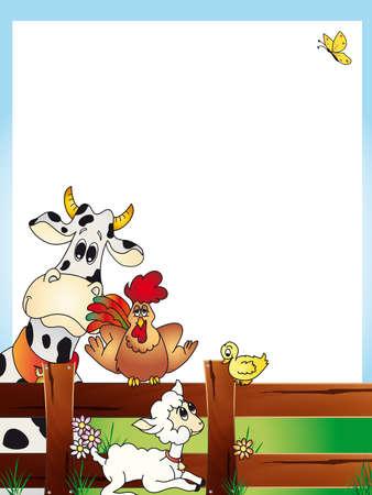 animal photo: farm card