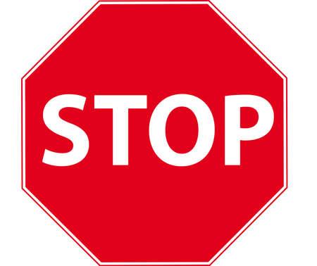 señal de stop Foto de archivo