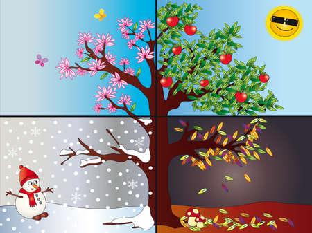 quatre saisons: saisons Banque d'images