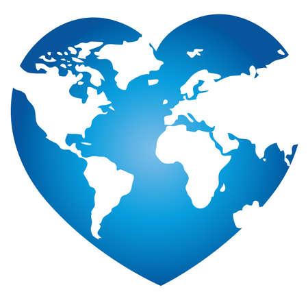 amor al planeta: mapa del mundo