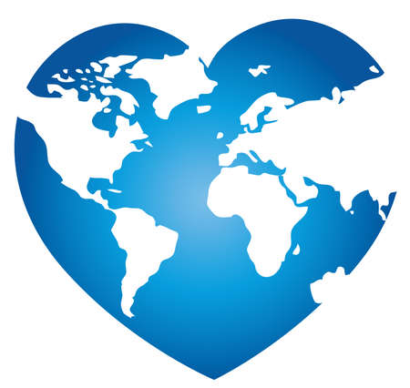 love of planet: world map