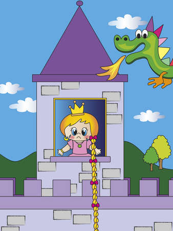 rapunzel: princess with dragon