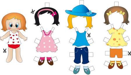 niños vistiendose: juego para la muchacha