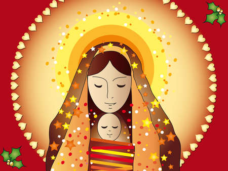 mary and jesus card Stock Photo - 15597057