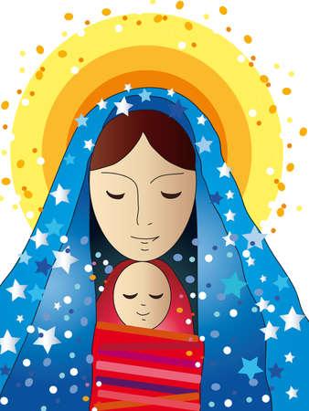 nacimiento de jesus: Mar�a y Jes�s