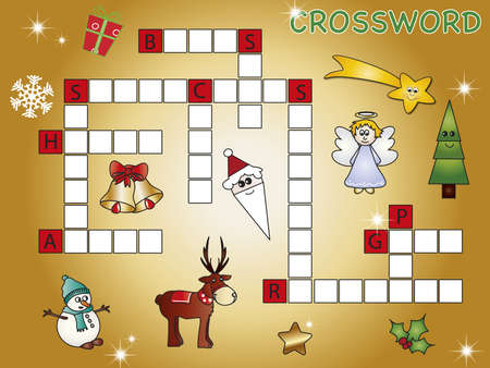 crossword christmas Stock Photo - 15695209