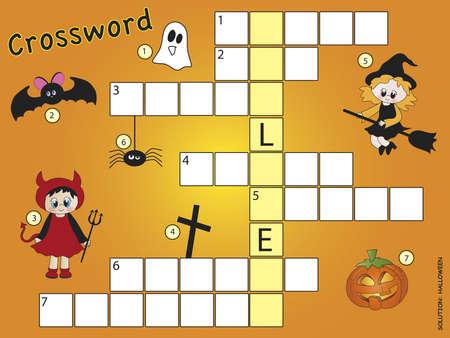 crossword halloween Imagens