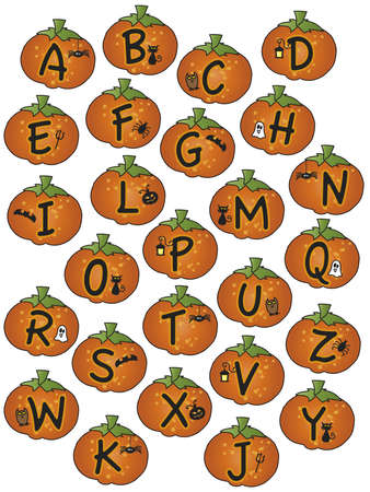 alphabet halloween photo