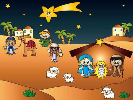 religious christmas: nativity
