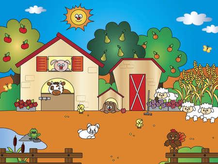 farm cartoon