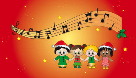 melodies: christmas carols Stock Photo