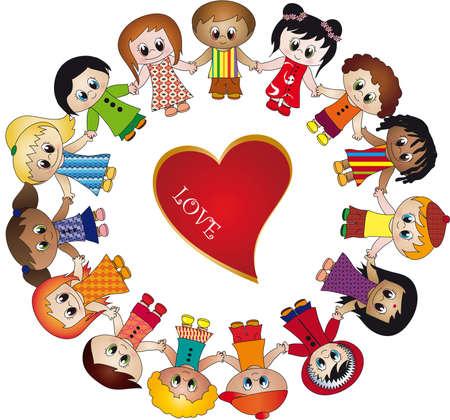 tolerance: love children Stock Photo