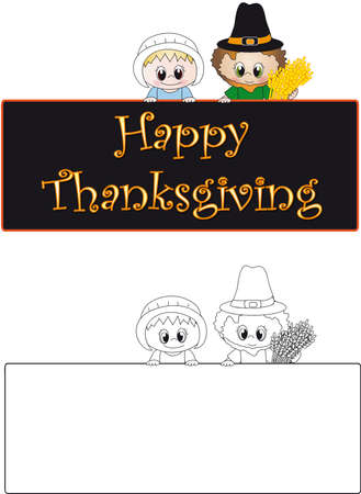 pilgrims: thanksgiving Stock Photo