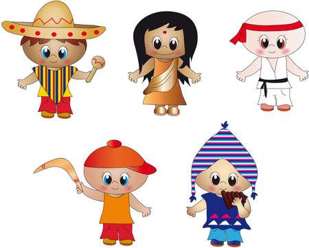 nationalities: children Stock Photo