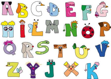 alfabeto con animales: alfabeto Foto de archivo
