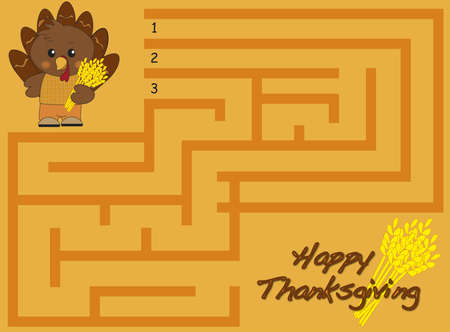 thanksgiving maze Stock Photo