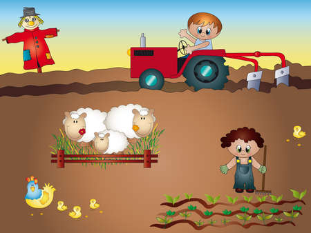 cartoon land: agriculture