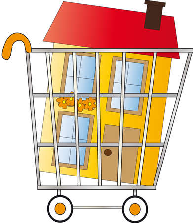 leasing: shopping home Stock Photo