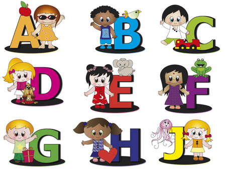illustrated: alphabet