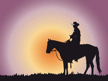 cowboy on horse: cowboy Stock Photo