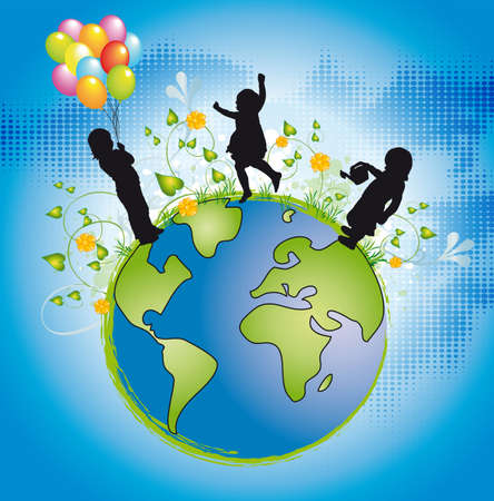 save environment: children in the world