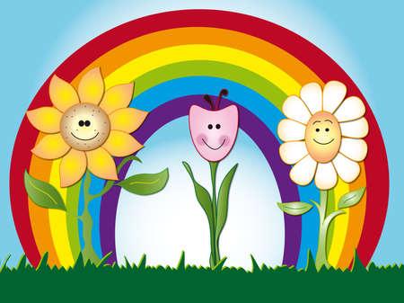 children caterpillar: flowers