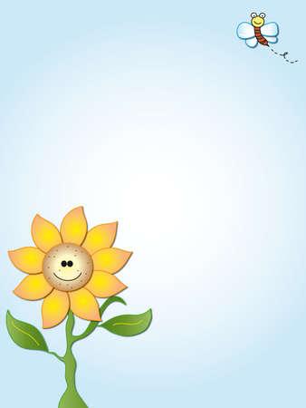 children caterpillar: flower card