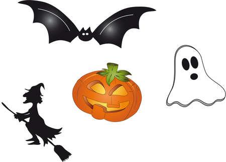 Halloween símbolos Foto de archivo - 16455320