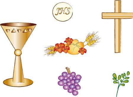 holy communion: religion symbol Stock Photo