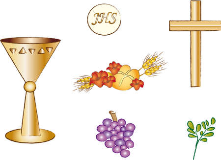 première communion: symbole de la religion Banque d'images