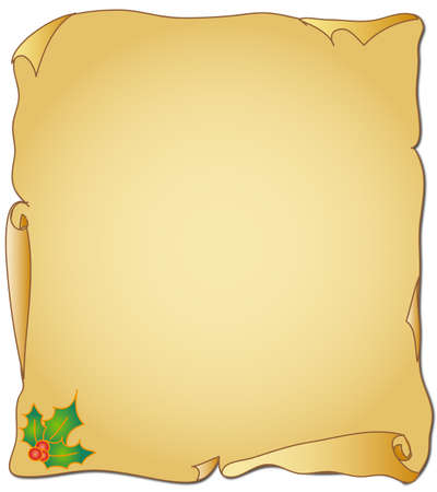 medieval scroll: christmas parchment