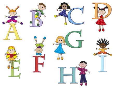 alphabet cartoon: alphabet