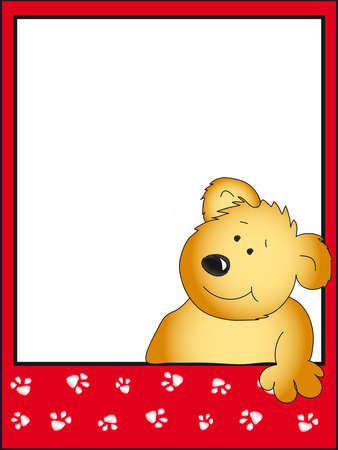 teddy bear card photo