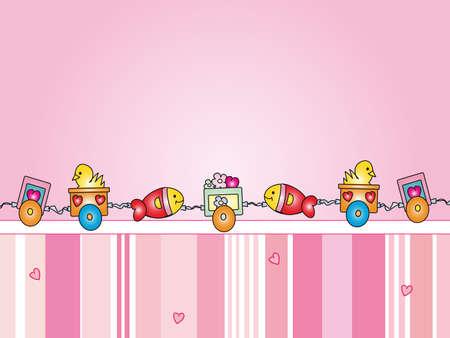 birthday train: baby background