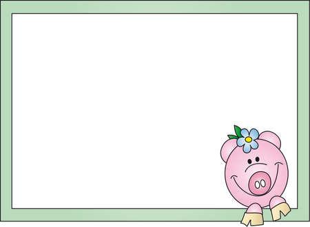 pig card photo