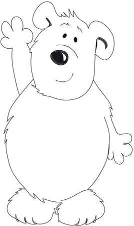cartooned: teddy bear Stock Photo