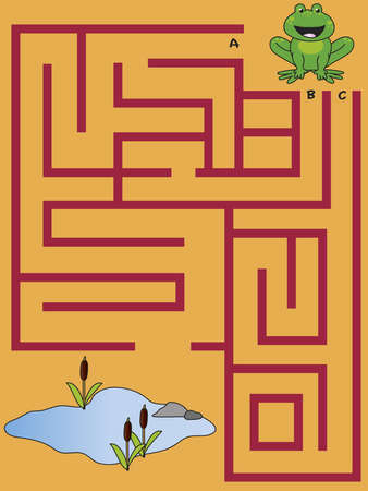 Easy maze for small children Stock Photo