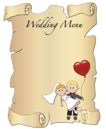 black wedding couple: wedding menu