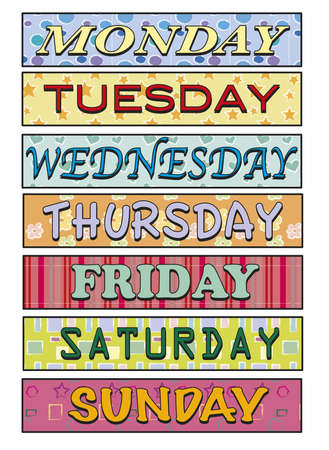 week: Days of the week
