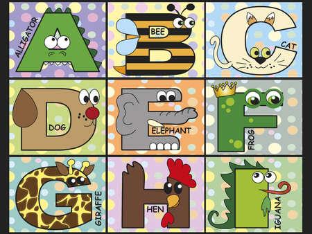 cat alphabet: animal alphabet