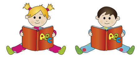 children with book photo