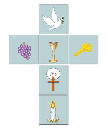 sacrament: cross  Stock Photo