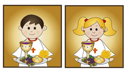 eucharistie: premi�re communion Banque d'images