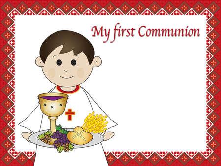 premi�re communion: premi�re communion Banque d'images