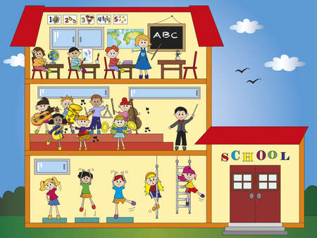 school with children  Stock Photo