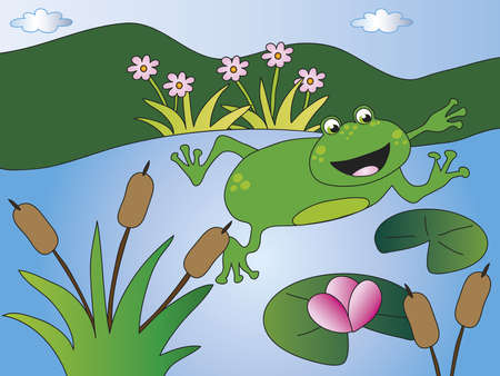 declaration of love: frog in a pond