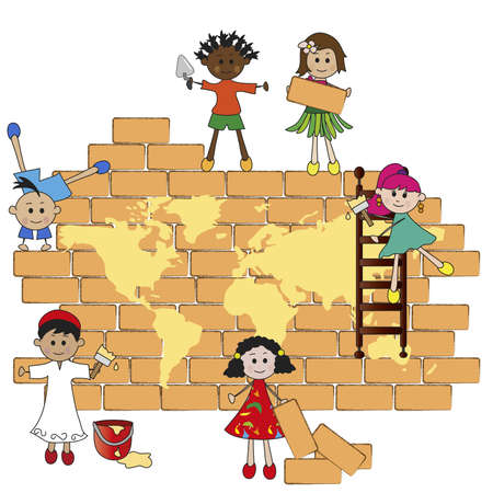 Children build the world photo