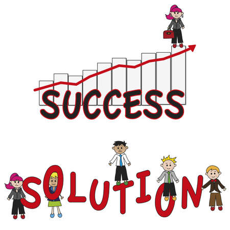 success and solution  photo
