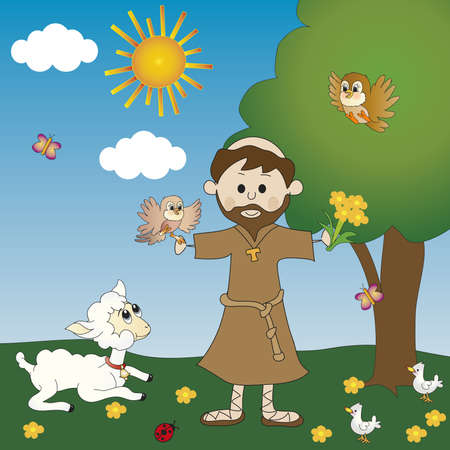 franciscan: St. Francis of Assisi  Stock Photo